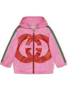 Gucci Kids куртка с принтом Interlocking G