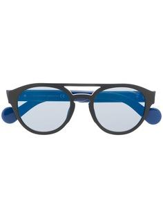 Moncler Eyewear солнцезащитные очки в круглой оправе