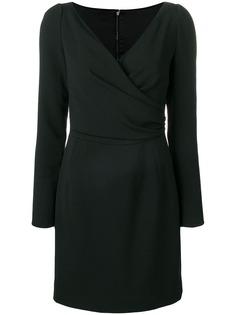 Dolce & Gabbana платье мини с запахом и длинными рукавами