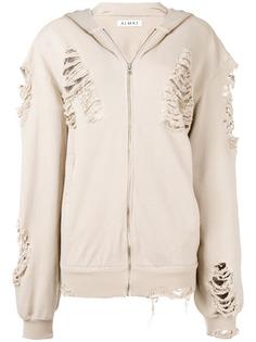 Almaz куртка кроя оверсайз с капюшоном и эффектом потертости