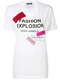 Dolce & Gabbana удлиненная футболка с принтом