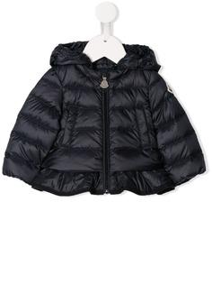 Moncler Kids стеганая куртка с оборкой