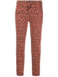 Mother джинсы скинни с леопардовым принтом