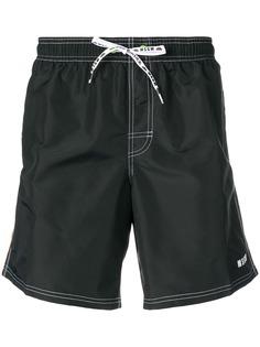 MSGM шорты в полоску со шнурком