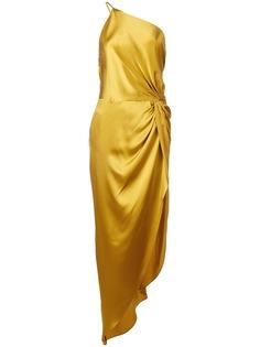 Michelle Mason вечернее платье с перекрученной деталью