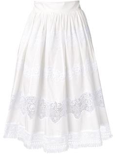Dolce & Gabbana юбка с кружевными вставками