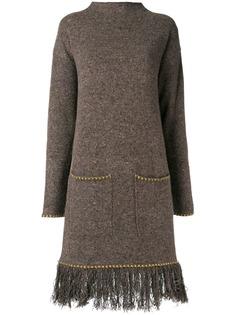 Etro платье-свитер с вышивкой