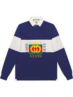 Gucci рубашка-поло свободного кроя с логотипом