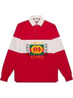 Gucci рубашка-поло оверсайз с логотипом