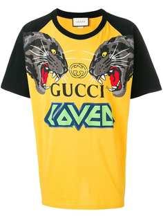 Gucci футболка с принтом тигров