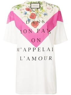 Gucci футболка Dans Mon Pays On MAppelai LAmour