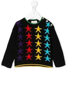 Gucci Kids свитер с узором в виде звезд