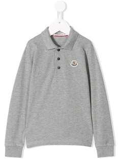 Moncler Kids рубашка-поло с длинными рукавами