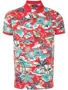 Polo Ralph Lauren рубашка-поло с гавайским принтом