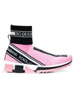 Dolce & Gabbana высокие кроссовки-носки Sorrento