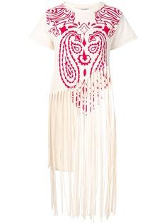 Loewe футболка Totem с бахромой