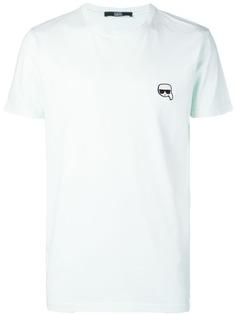 Karl Lagerfeld футболка с нашивкой Ikonik Karl