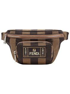 Fendi полосатая поясная сумка