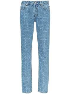 1017 ALYX 9SM прямые джинсы с принтом логотипа
