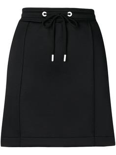 Kenzo юбка мини с боковыми полосками и логотипом