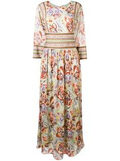 Etro платье макси с цветочным принтом