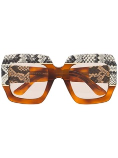 Gucci Eyewear массивные солнцезащитные очки