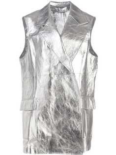 Calvin Klein 205W39nyc куртка металлик без рукавов