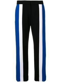 Kenzo укороченные брюки с контрастными вставками