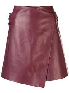 Rosetta Getty юбка мини с запахом