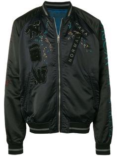 Diesel двухсторонняя куртка-бомбер с вышивкой