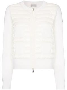 Moncler утепленная куртка-бомбер Maglia Tricot