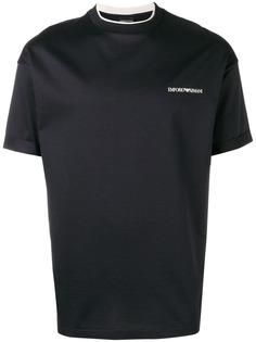 Emporio Armani футболка с логотипом и короткими рукавами