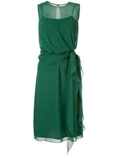 Max Mara полупрозрачное многослойное платье