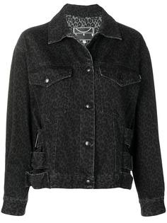 McQ Alexander McQueen джинсовая куртка с леопардовым принтом