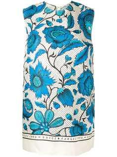 Gucci топ-туника с цветочным принтом