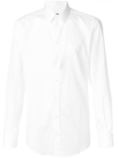 Dolce & Gabbana поплиновая рубашка узкого кроя