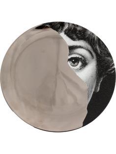Fornasetti настенная тарелка T&V с принтом