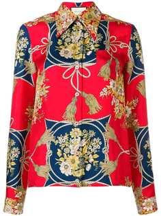 Gucci рубашка с цветочным принтом