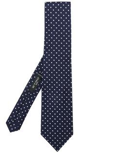 Etro галстук с вышивкой в горох