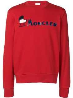Moncler толстовка с нашивкой-логотипом