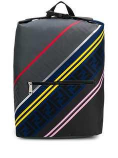 Fendi рюкзак в полоску с логотипом