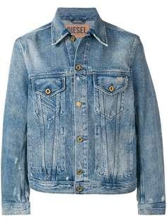 Diesel джинсовая куртка с эффектом потертости
