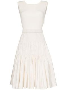 Moncler платье миди с поясом