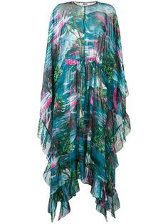 MSGM асимметричное платье с принтом