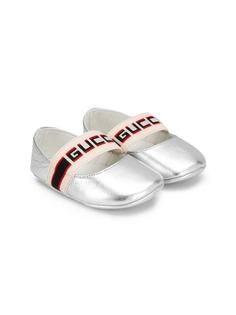 Gucci Kids балетки с ремешками и логотипом