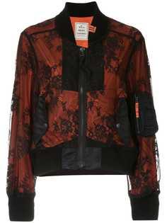 Maison Mihara Yasuhiro куртка-бомбер с кружевной вставкой