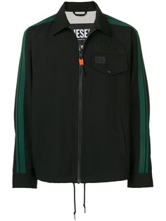 Diesel куртка-рубашка с полосками