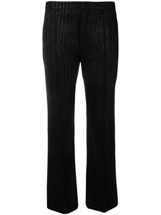 Isabel Marant брюки в полоску с люрексом