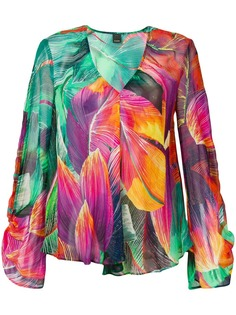 Pinko блузка с тропическим принтом