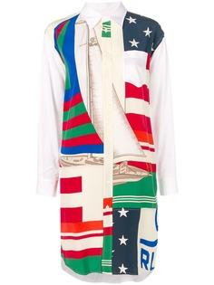 Polo Ralph Lauren платье-рубашка с изображением флагов
